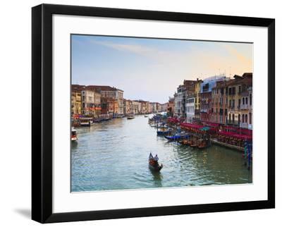 The Grand Canal, Venice, UNESCO World Heritage Site, Veneto, Italy, Europe-Amanda Hall-Framed Photographic Print