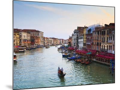 The Grand Canal, Venice, UNESCO World Heritage Site, Veneto, Italy, Europe-Amanda Hall-Mounted Photographic Print