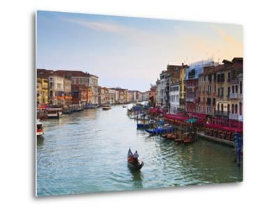 The Grand Canal, Venice, UNESCO World Heritage Site, Veneto, Italy, Europe-Amanda Hall-Metal Print