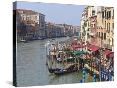 Grand Canal, Venice, UNESCO World Heritage Site, Veneto, Italy, Europe-Amanda Hall-Stretched Canvas Print