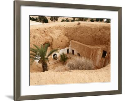 Troglodyte Pit Home, Berber Underground Dwellings, Matmata, Tunisia, North Africa, Africa-Dallas & John Heaton-Framed Photographic Print