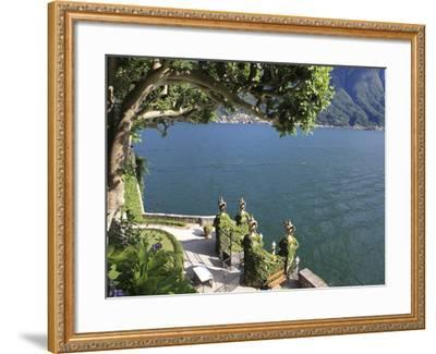View From Villa Balbianello, Lenno, Lake Como, Lombardy, Italy, Europe-Vincenzo Lombardo-Framed Photographic Print