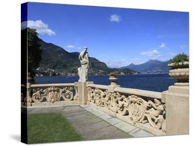 View From Terrace, Lenno, Lake Como, Lombardy, Italy, Europe-Vincenzo Lombardo-Stretched Canvas Print