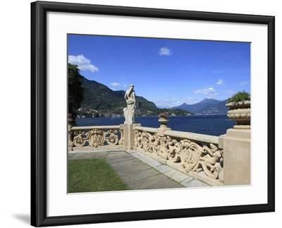 View From Terrace, Lenno, Lake Como, Lombardy, Italy, Europe-Vincenzo Lombardo-Framed Photographic Print
