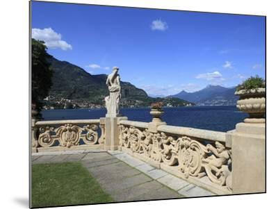 View From Terrace, Lenno, Lake Como, Lombardy, Italy, Europe-Vincenzo Lombardo-Mounted Photographic Print