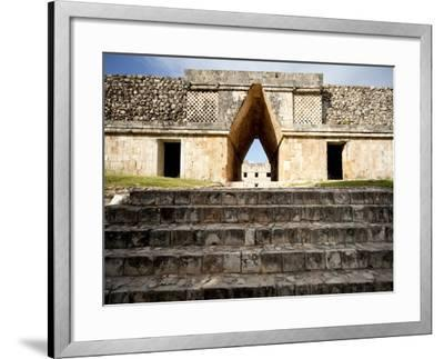 Governor's Palace in the Mayan Ruins of Uxmal, UNESCO World Heritage Site, Yucatan, Mexico-Balan Madhavan-Framed Photographic Print