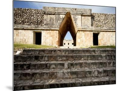 Governor's Palace in the Mayan Ruins of Uxmal, UNESCO World Heritage Site, Yucatan, Mexico-Balan Madhavan-Mounted Photographic Print