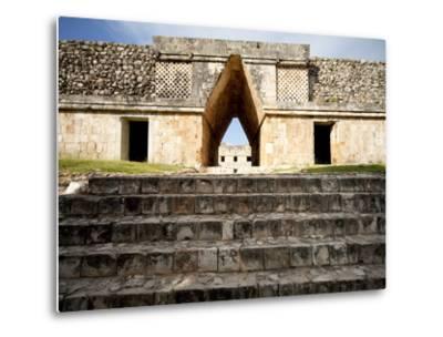 Governor's Palace in the Mayan Ruins of Uxmal, UNESCO World Heritage Site, Yucatan, Mexico-Balan Madhavan-Metal Print