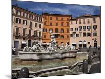 Neptune Fountain, Piazza Navona, Rome, Lazio, Italy, Europe-Carlo Morucchio-Mounted Photographic Print