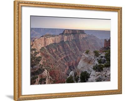 View From Cape Royal at Dusk, North Rim, Grand Canyon National Park, Arizona, USA-James Hager-Framed Photographic Print
