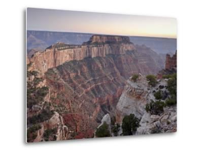 View From Cape Royal at Dusk, North Rim, Grand Canyon National Park, Arizona, USA-James Hager-Metal Print