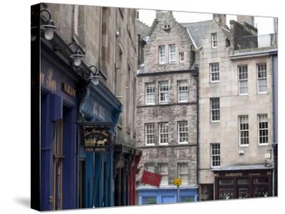 Victoria Street, the Old Town, Edinburgh, Scotland, Uk-Amanda Hall-Stretched Canvas Print