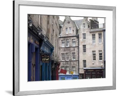 Victoria Street, the Old Town, Edinburgh, Scotland, Uk-Amanda Hall-Framed Photographic Print