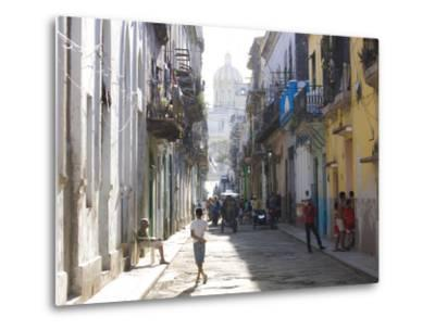 Typical Residential Street in Havana Vieja, Havana, Cuba-Lee Frost-Metal Print