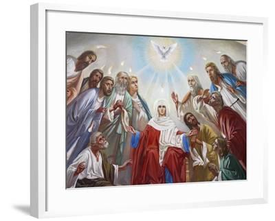 Fresco in the Russian Orthodox Church of the Holy Trinity, Jerusalem, Israel, Middle East--Framed Photographic Print