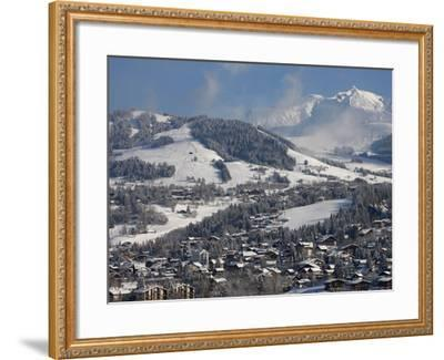 Megeve Village in Winter, Megeve, Haute Savoie, French Alps, France, Europe--Framed Photographic Print