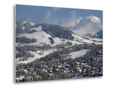 Megeve Village in Winter, Megeve, Haute Savoie, French Alps, France, Europe--Metal Print