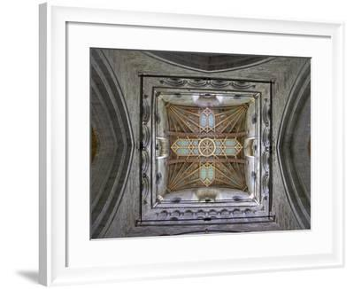 Tower Lantern Ceiling, St. Davids Cathedral, Pembrokeshire National Park, Wales-Peter Barritt-Framed Photographic Print