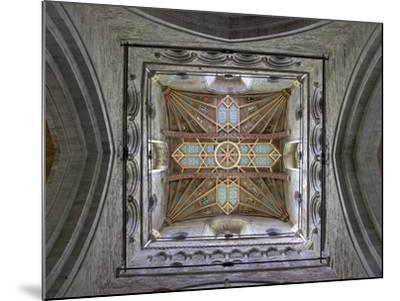 Tower Lantern Ceiling, St. Davids Cathedral, Pembrokeshire National Park, Wales-Peter Barritt-Mounted Photographic Print