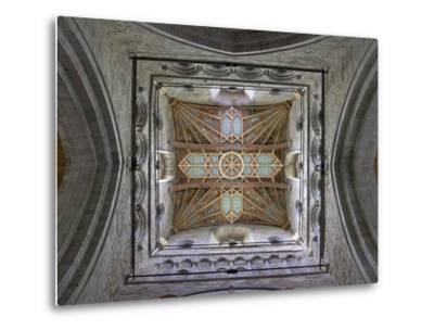 Tower Lantern Ceiling, St. Davids Cathedral, Pembrokeshire National Park, Wales-Peter Barritt-Metal Print