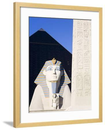 Sphinx and Obelisk Outside the Luxor Casino, Las Vegas, Nevada, USA-Richard Cummins-Framed Photographic Print