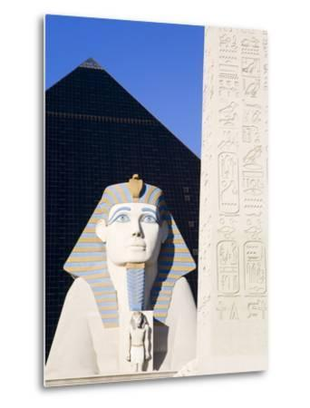 Sphinx and Obelisk Outside the Luxor Casino, Las Vegas, Nevada, USA-Richard Cummins-Metal Print