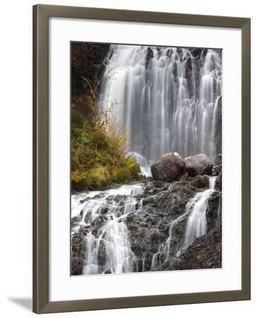 Flowerdale Falls, a Waterfall Near the Village of Gairloch, Torridon, Scotland, United Kingdom-Lee Frost-Framed Photographic Print