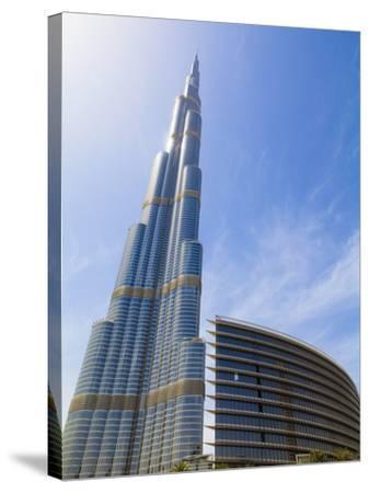 Burj Khalifa, the Tallest Man Made Structure in the World at 828 Metres, Downtown Dubai, Dubai, Uae-Amanda Hall-Stretched Canvas Print