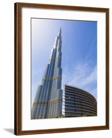 Burj Khalifa, the Tallest Man Made Structure in the World at 828 Metres, Downtown Dubai, Dubai, Uae-Amanda Hall-Framed Photographic Print