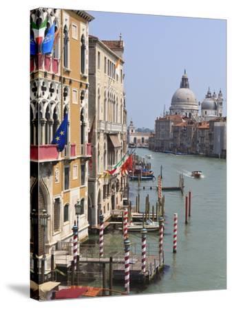 Grand Canal and Santa Maria Della Salute, Venice, UNESCO World Heritage Site, Veneto, Italy, Europe-Amanda Hall-Stretched Canvas Print