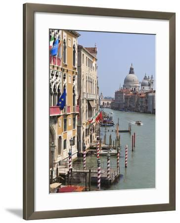 Grand Canal and Santa Maria Della Salute, Venice, UNESCO World Heritage Site, Veneto, Italy, Europe-Amanda Hall-Framed Photographic Print