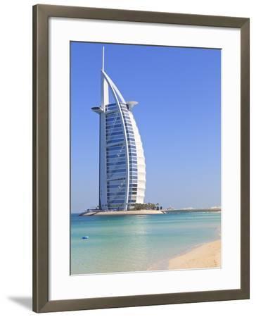 Burj Al Arab Hotel, Jumeirah Beach, Dubai, United Arab Emirates, Middle East-Amanda Hall-Framed Photographic Print