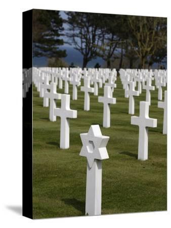 American Cemetery at Omaha Beach, Colleville-Sur-Mer, Normandy, France, Europe--Stretched Canvas Print