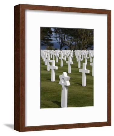 American Cemetery at Omaha Beach, Colleville-Sur-Mer, Normandy, France, Europe--Framed Photographic Print