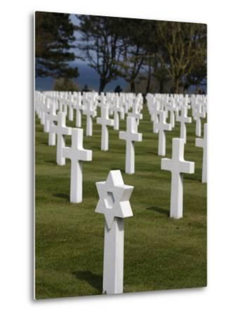American Cemetery at Omaha Beach, Colleville-Sur-Mer, Normandy, France, Europe--Metal Print