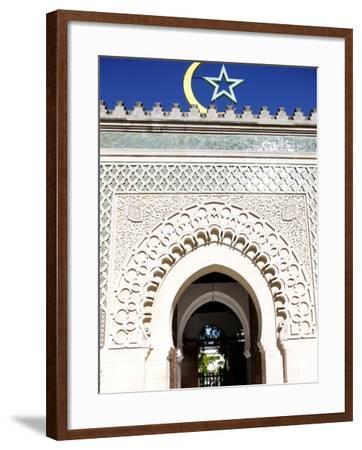Main Door of the Paris Great Mosque, Paris, France, Europe--Framed Photographic Print