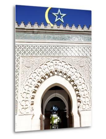 Main Door of the Paris Great Mosque, Paris, France, Europe--Metal Print