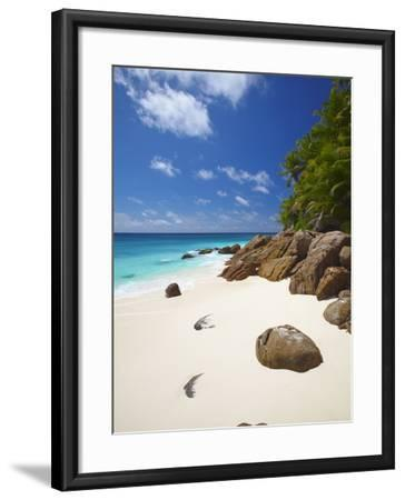 Deserted Beach, La Digue, Seychelles, Indian Ocean, Africa--Framed Photographic Print