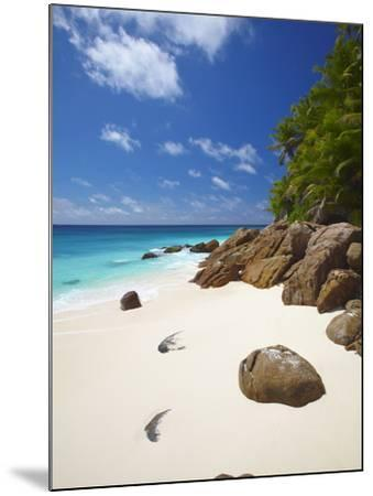 Deserted Beach, La Digue, Seychelles, Indian Ocean, Africa--Mounted Photographic Print