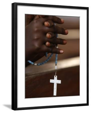 Prayer Beads, Togoville, Togo, West Africa, Africa--Framed Photographic Print