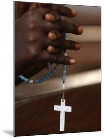 Prayer Beads, Togoville, Togo, West Africa, Africa--Mounted Photographic Print