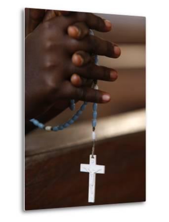Prayer Beads, Togoville, Togo, West Africa, Africa--Metal Print