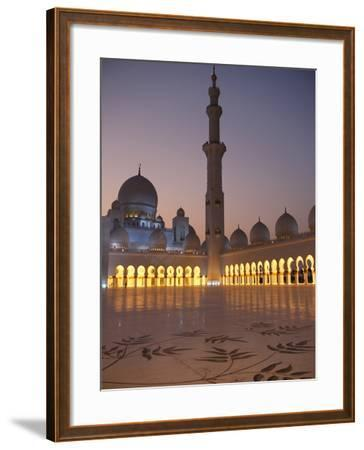 Sheikh Zayed Grand Mosque, the Biggest Mosque in the U.A.E., Abu Dhabi--Framed Photographic Print