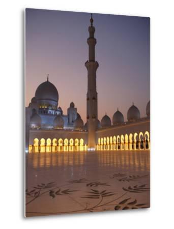 Sheikh Zayed Grand Mosque, the Biggest Mosque in the U.A.E., Abu Dhabi--Metal Print