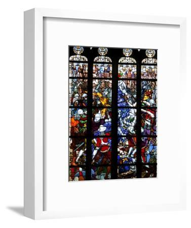 Stained Glass of Joan of Arc in Sainte-Croix Cathedral, Orleans, Loiret, France, Europe--Framed Photographic Print