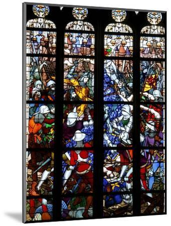 Stained Glass of Joan of Arc in Sainte-Croix Cathedral, Orleans, Loiret, France, Europe--Mounted Photographic Print