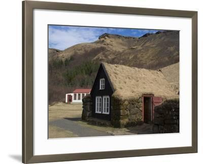 Typical Icelandic House From the Last Century, Skoga Museum, Near Skogafoss, South Iceland--Framed Photographic Print