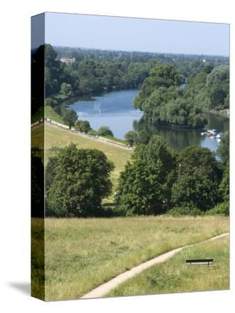 View Over the Thames From Richmond Hill, Richmond, Surrey, England, Uk--Stretched Canvas Print