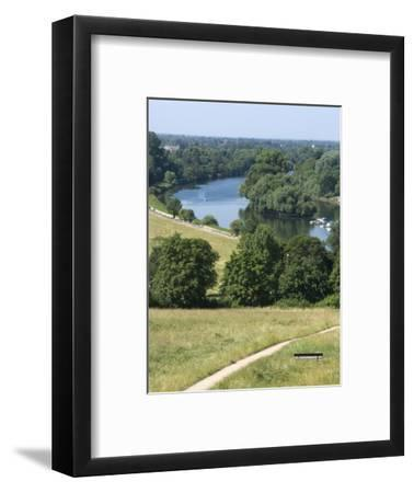 View Over the Thames From Richmond Hill, Richmond, Surrey, England, Uk--Framed Photographic Print