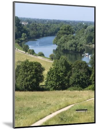 View Over the Thames From Richmond Hill, Richmond, Surrey, England, Uk--Mounted Photographic Print